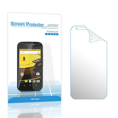 Moto E 2nd Generation amFilm Premium HD Clear Screen Protector (3 Pack)