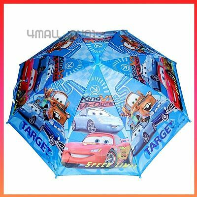 Kids Boys Umbrella Parasol Raincoat Rainproof Cars Lightning McQueen Mater Gift