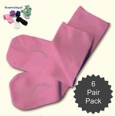 Pink Absolutely Seamless Socks - SmartKnit Kids - Value 6 Pack!