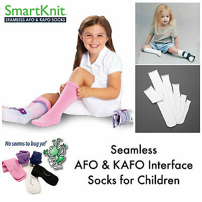 Smartknit AFO (Ankle Foot Orthosis) Interface Seamless Pair Socks for children