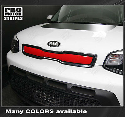 For KIA SOUL 2014-2016 Front Panel Accent Overlay Stripe Decal (Choose Color)