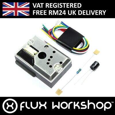 Optical Dust Sensor GP2Y1010AU0F w/cable Particle Smoke SHARP Flux Workshop