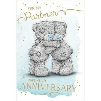 Me To You For My Partner On Our Anniversary Card Tatty Teddy Bear New Gift