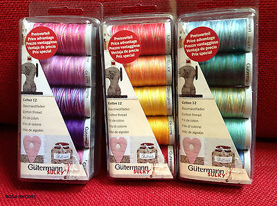 Thread Set -  Machine Embroidery  Cotton 12 - Various Colours