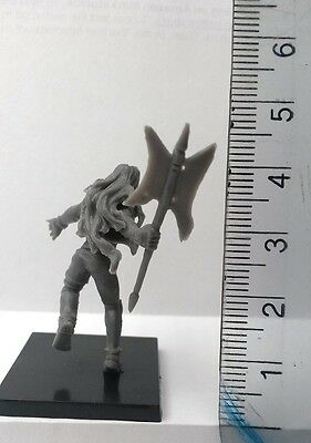 30mm Scale Miniatures: Barbarian A x 1 Grey Plastic