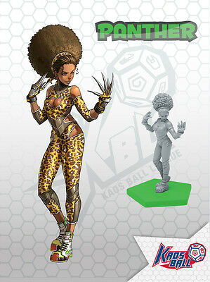 30mm Scale Miniatures: Amazon Female Panther Star  x 1 Grey Plastic