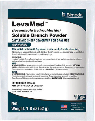 52 gm LevaMed Levamisole Soluble Drench Powder