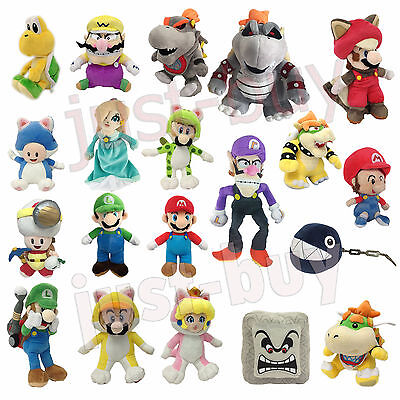 Super Mario Bros. Series Luigi Bowser Plush Soft Toy Stuffed Animal Doll Teddy