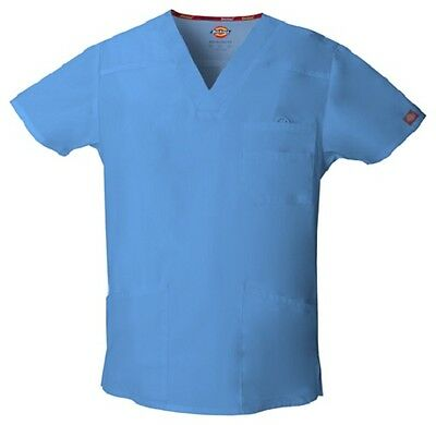 Dickies Scrubs EDS Men's Scrub Top 81906 CIEL BLUE CIWZ Dickies Signature