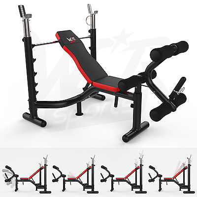 Heavy Duty Premium Weight Bench With Weight Rack -Home Fitness Gym Bench Workout