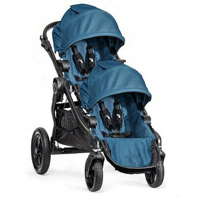 Baby Jogger 2016 City Select Double Stroller - Teal on Black Frame - Brand New