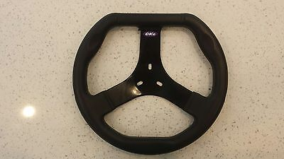 Premium Go Kart Steering Wheel Flat Top Moulded 300mm Dia BEST PRICE on EBAY