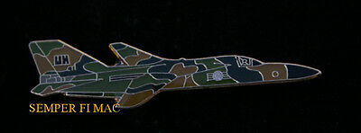 F-105 THUNDERCHIEF HAT LAPEL PIN UP US AIR FORCE VIETNAM FIGHTER AFB PILOT WING