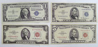 Awesome Estate Lot Of 4 Vintage Pieces Of U. S. Currency! See Pics/description!
