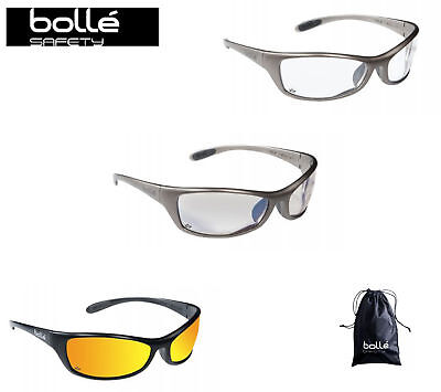 Bolle Spider Safety / Cycling Glasses + Free Micro Fibre Bag