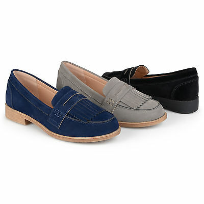 be959aad5fe BRINLEY CO WOMENS Fringed Faux Suede Slip on Loafers New -  24.99 ...