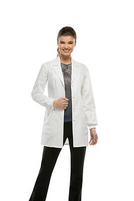 "Dickies Medical Gen Flex Women's 32"" White Lab Coat Sz XS-XXL NWT"
