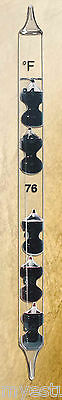 Galileo Liquid Wall Mount Thermometer with Five Black Glass Globes 21 inch tall