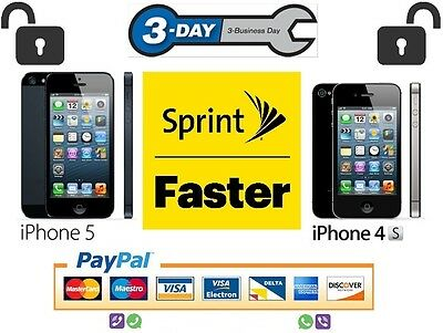 SPRINT USA Official Factory Unlock Code Service iPhone 5 4S  | CLEAN 99xx IMEI