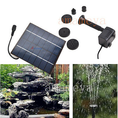 Solar Water Pump Power Energy Panel Fountain Pool Garden Pond Submersible Water