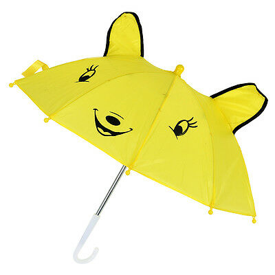 B3 Children Panda Pattern Mini Yellow Umbrella Playing Toy