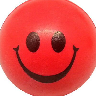 B3 Happy Red Smile Face Bouncy Ball