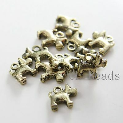 12pcs Antique Brass Tone Base Metal Leaf Link 17913Y-H-342 Curved 34x16mm