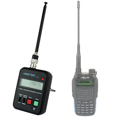 Wireless Radio Frequency Counter/Meter 0.3MHz-2.8GHz For Two Way Radios+Track