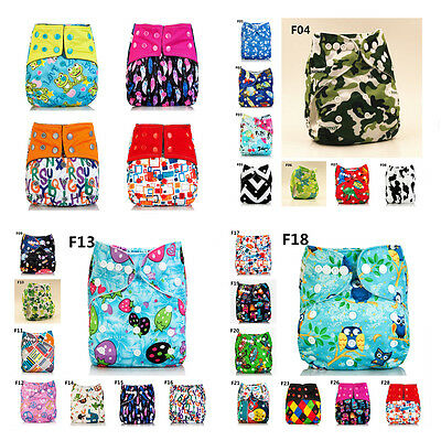 Washable Baby Nappy Pocket Reusable Cloth Diaper Replaceable Without Insert