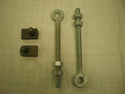 Pair Weld On Gate Hinge Pins And 2 x 12mm x 150mm Adustable Eyebolts