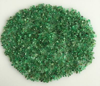 60Ct Scoop Natural Emerald Green Tiny Small Rough Gemstone Loose Mineral Lot Raw