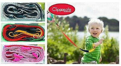 Clippasafe Wrist Link Toddler Safety Wristband Strap Walking Secure Child Lead