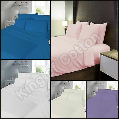 Flannelette 100% Brushed Cotton Flat Sheets Finest Material Hotel Quality Set