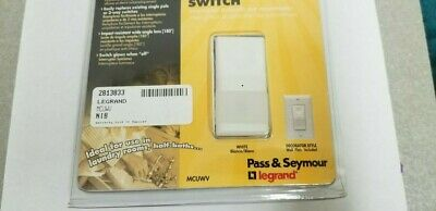 Pass&Seymour Motion Activated Switch 5 Min Auto Off (White) Mculav