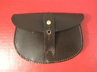 WWI British Army Officer's Leather Ammo Pouch - Webley Mk IV Revolver - Repro
