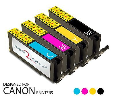 Multipack of 4 x CLI-251XL Premium Refillable Edible Ink Cartridges Canon MG6320