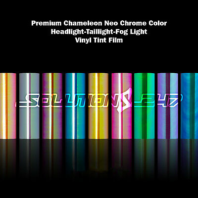 Gloss Neo Chrome Chameleon Color Headlight Taillight Fog Light Vinyl Tint Film