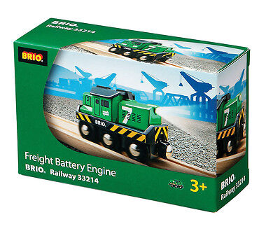 BRIO 33214 Freight Battery Engine - Eisenbahn Battery Function Alter 3-5 Jahre