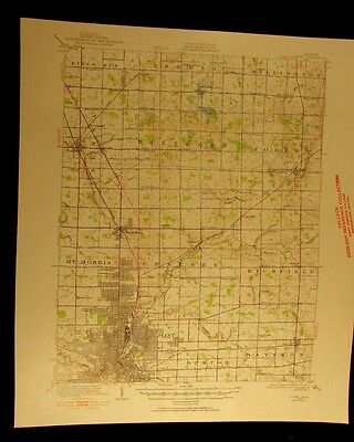 Flint Michigan 1920 vintage USGS Topographical chart map