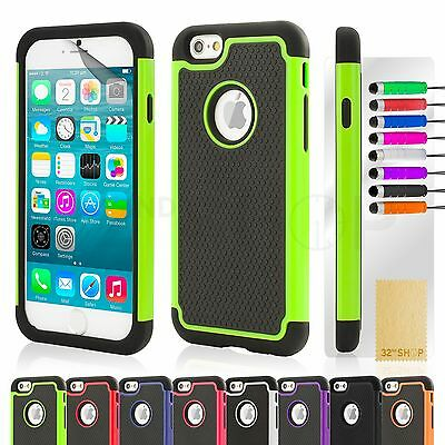 SHOCK PROOF CASE COVER FOR APPLE iPhone 6 (4.7) PLUS (5.5)+ SCREEN PROTECTOR