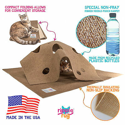 The Ripple Rug Cat Play Mat - Made in USA - We are the Manufacturer