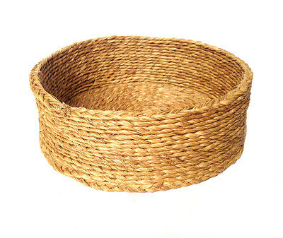 WOVEN Hand Made Flexible Round Yellow Basket