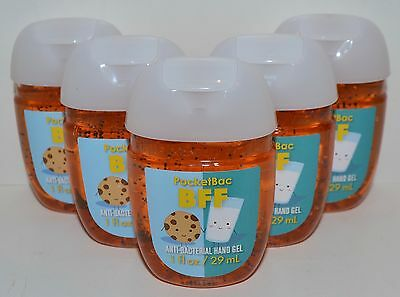 5 Bath & Body Works Bff Milk Cookies Pocketbac Anti Bacterial Hand Gel Sanitizer