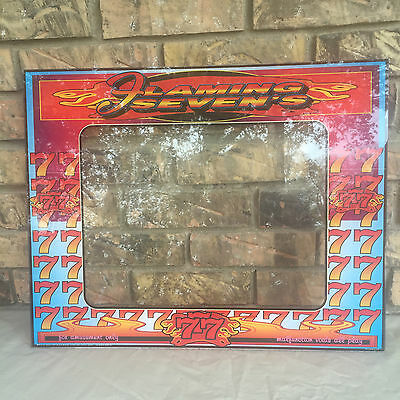 Flaming Seven's Front Cover/Sign Plexiglass Casino Slot Machine Picture Frame
