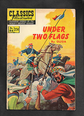 Classics Illustrated #86 G  Hrn169 (Under Two Flags) Ouida