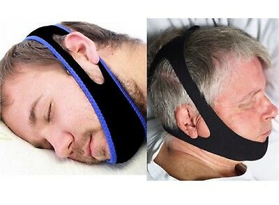 2 Styles Anti Snoring Chin Strap Jaw Device Stop Snore Solution Sleep Apnea TMJ