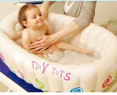 Infant Travel Inflatable Tiny Tots Baby Bath Tub Cream Colour