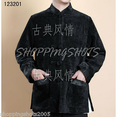 chinese coat clothing clothes for men jacket 123201 black size M-XXL in stock