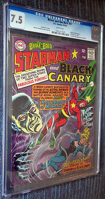 The Brave and the Bold #61 CGC 7.5 White Pages Starman Black Canary vs The Mist