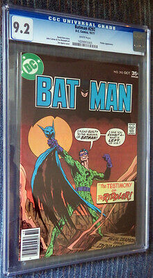 Batman #292 CGC 9.2 White Pages - The Testimony of the Riddler! Gotham TV show!